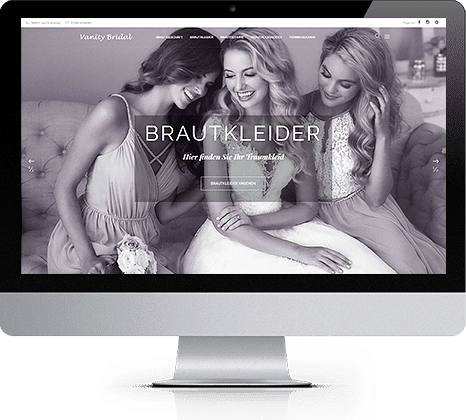 iMac with Vanity Bridal website