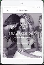 iPad mit Vanity Bridal Webseite