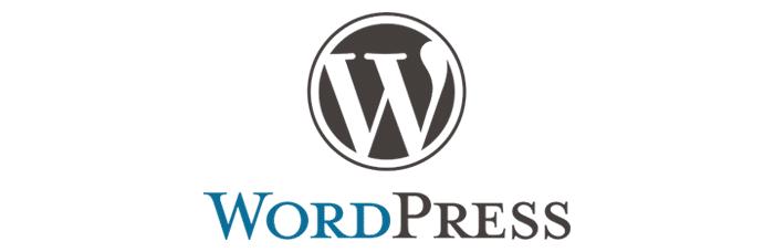 Grafik mit dem Schriftzug WordPress