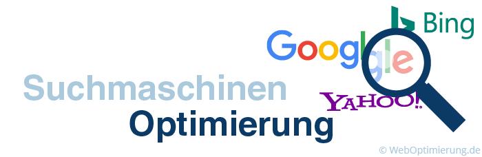 Grafik mit dem Schriftzug Suchmaschinenoptimierung
